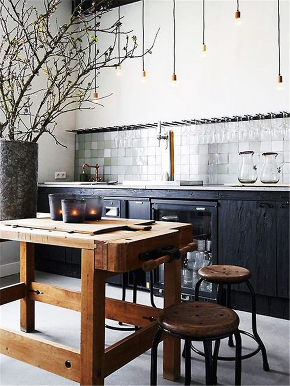 20 dise os de cocinas estilo industrial for Material cocina industrial