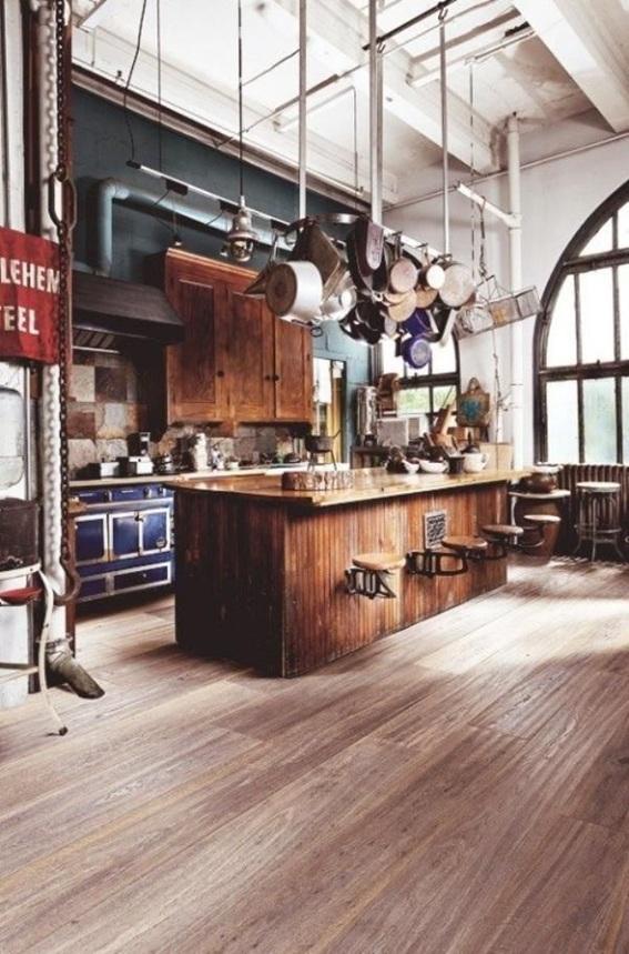 20 dise os de cocinas estilo industrial - Estilos de cocinas ...