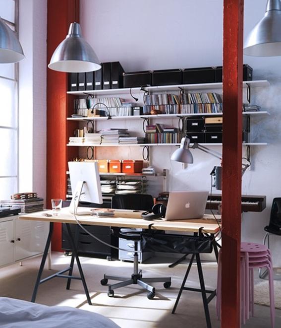 20 ideas de oficinas para hombres decoradas y para el hogar - Espacios de trabajo ikea ...