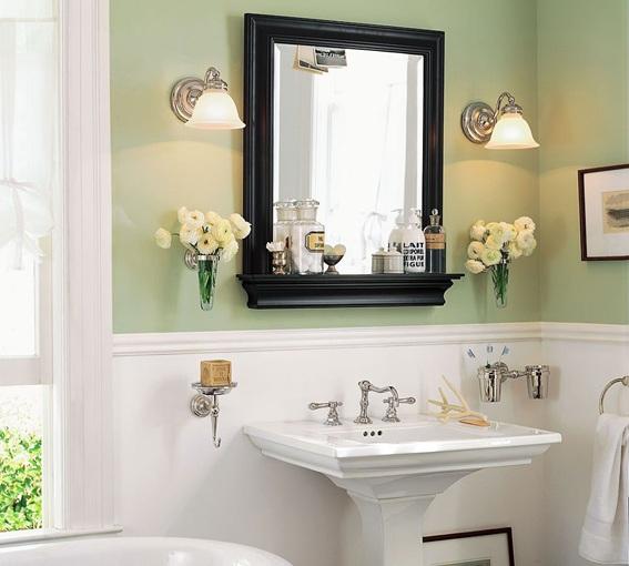 15 fotos de espejos para el cuarto de ba o for Espejos grandes de pared vintage