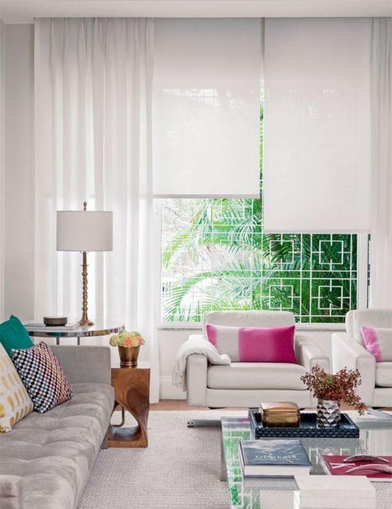 15 modelos de cortinas para tu sala moderna for Cortinas de casas modernas