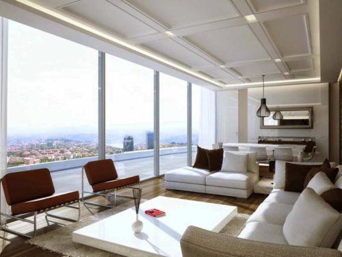 Fabulosas salas decoradas con ventanas grandes for Salas grandes decoracion