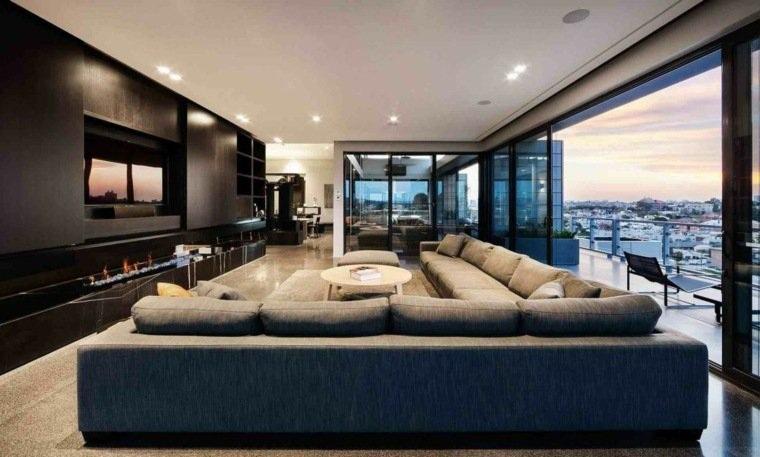 Fabulosas salas decoradas con ventanas grandes for New style living room