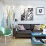 Pequeño y Encantador Diseño de Apartamento de 45 m2