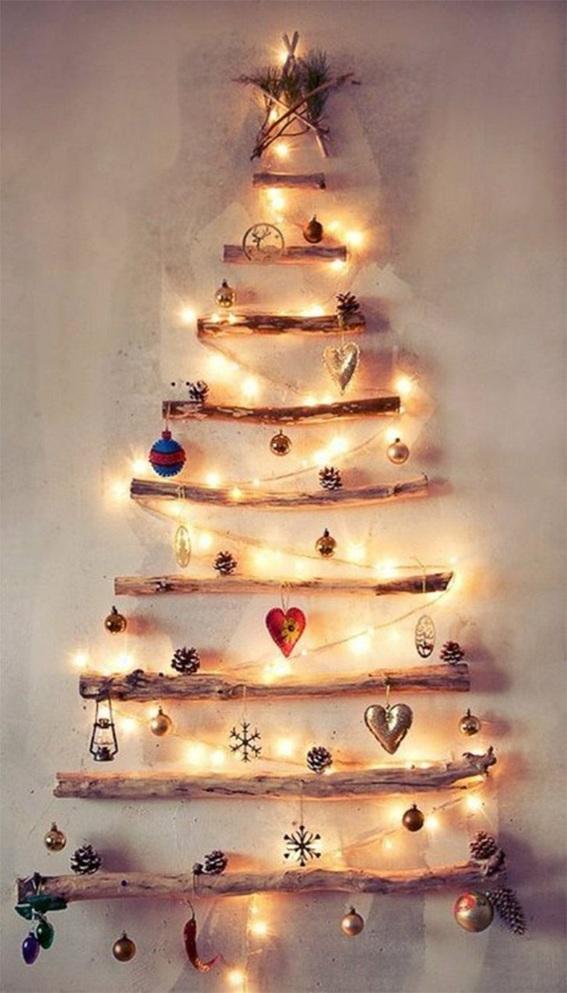 árbol navidad pared