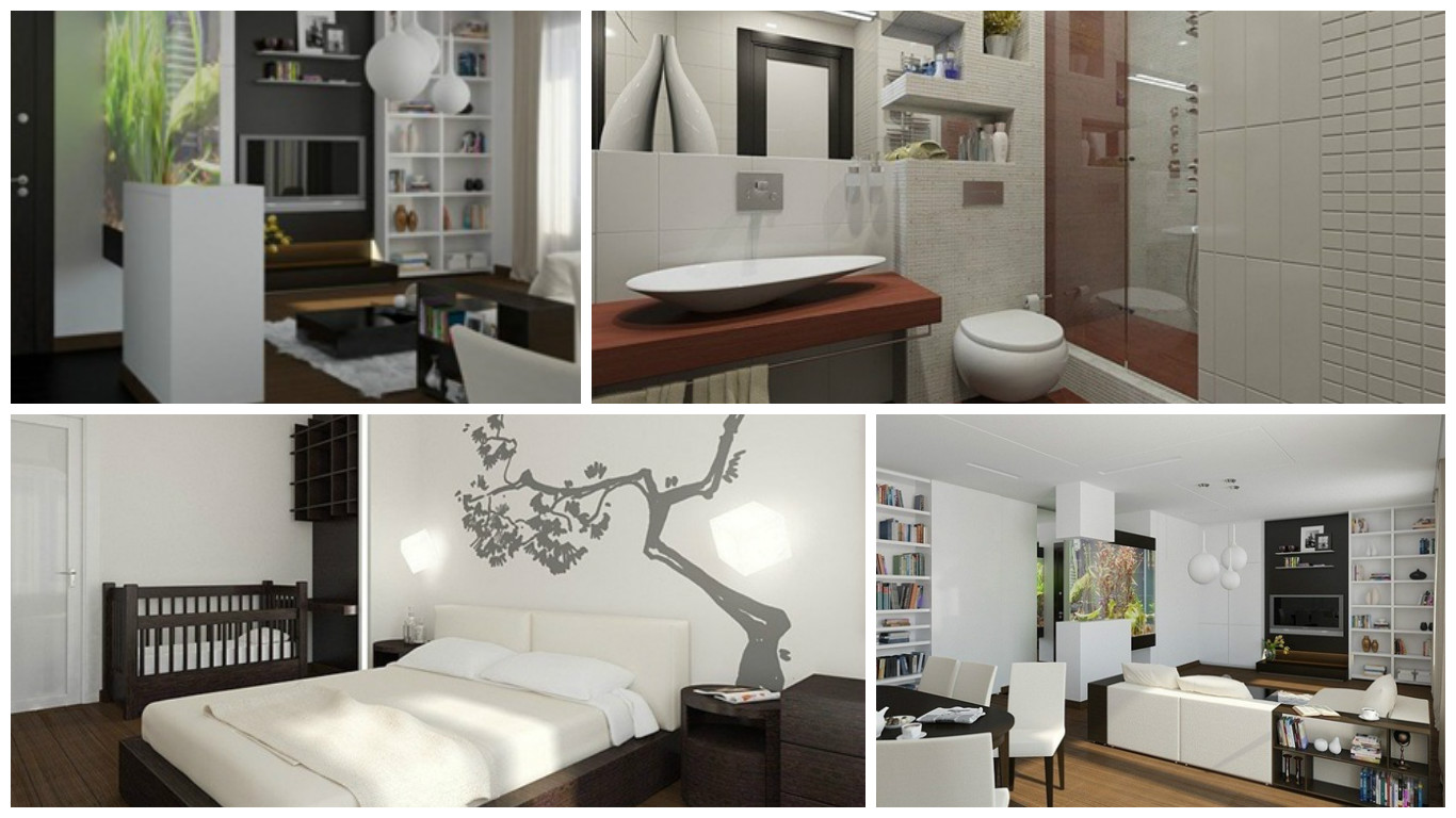 Moderno y minimalista apartamento de 83 m2 en mosc for Como decorar un apartamento moderno