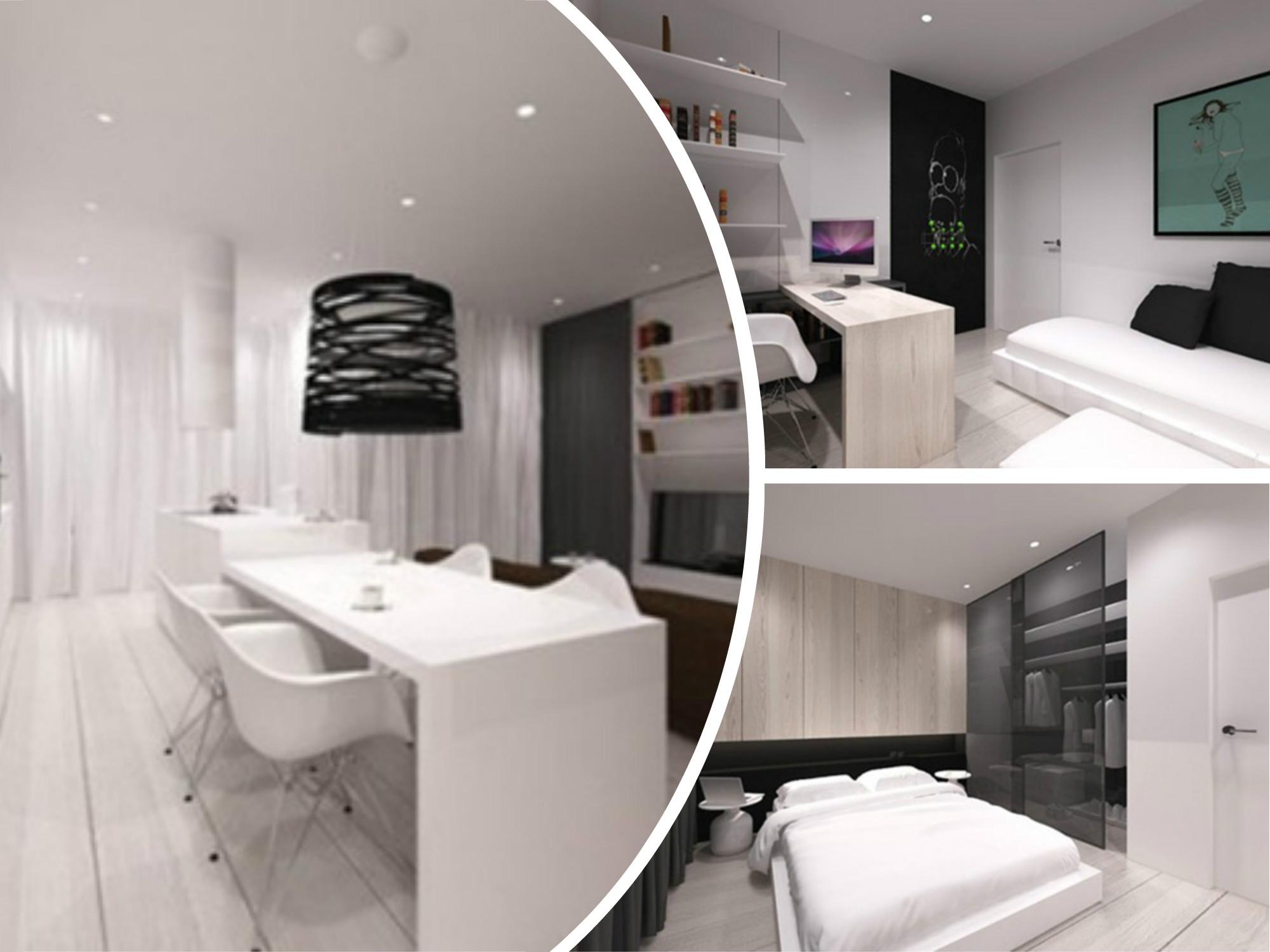 Apartamento minimalista y moderno en polonia for Decoracion casa minimalista