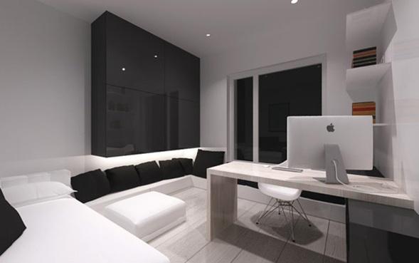 Apartamento minimalista y moderno en polonia for Decoraciones minimalistas para apartamentos