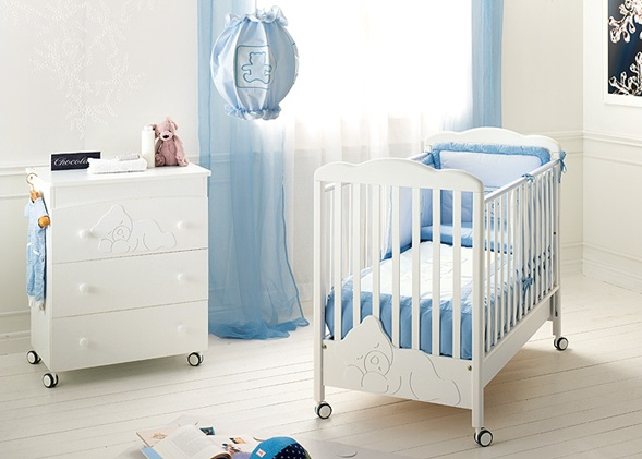 10 encantadores dormitorios para beb s color celeste - Cortinas dormitorio bebe ...