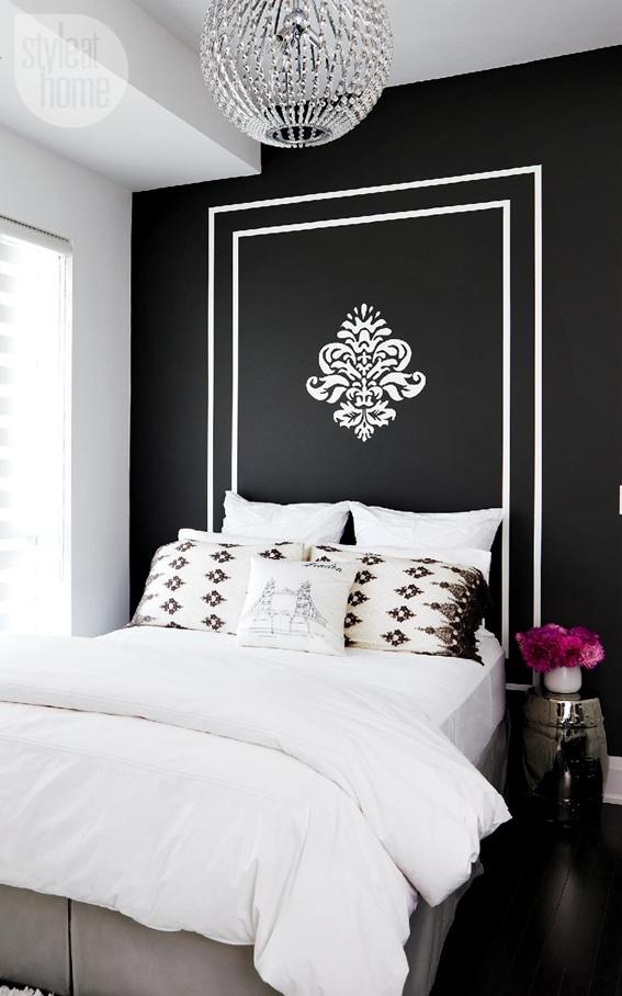 14 fotos de dormitorios con paredes color negro - Paredes para dormitorios ...