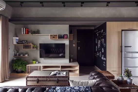 diseño apartamento industrial 90 m2
