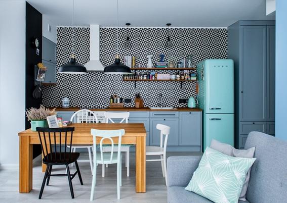 foto de apartamento colores pasteles