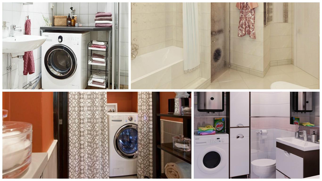 Ideas para incluir la lavadora en el cuarto de ba o - Instalar lavadora en bano ...