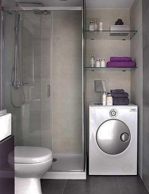 foto de baño con lavadora