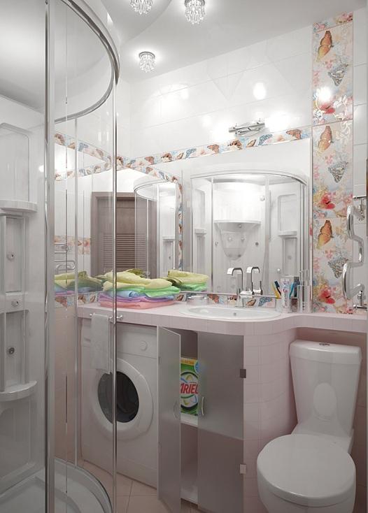 Ideas para incluir la lavadora en el cuarto de ba o for Lavadero para bano