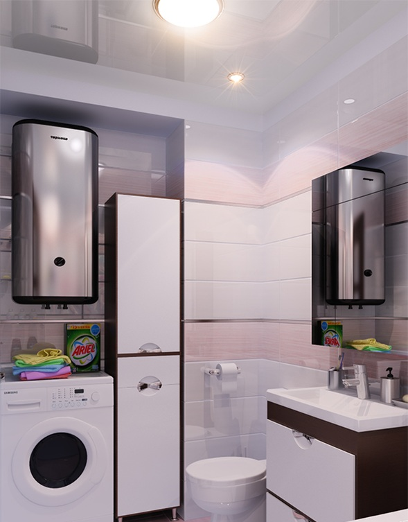 Ideas para incluir la lavadora en el cuarto de ba o for Cosas de bano con b
