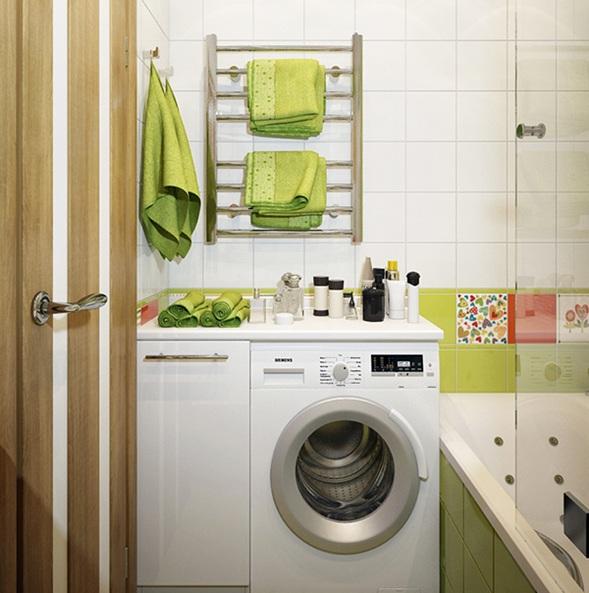 Ideas para incluir la lavadora en el cuarto de ba o for Ocultar lavadora