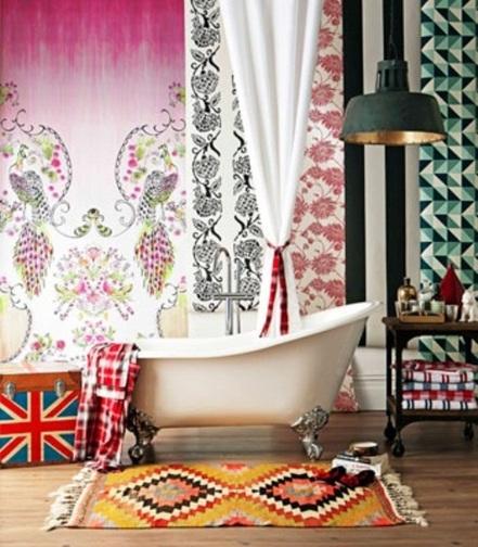 foto de baño estilo bohemio