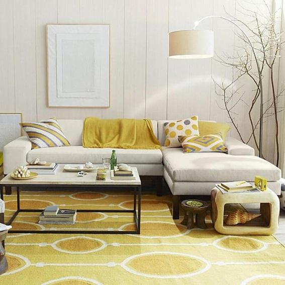 20 salas decoradas con hermosas alfombras - Alfombras para sala ...