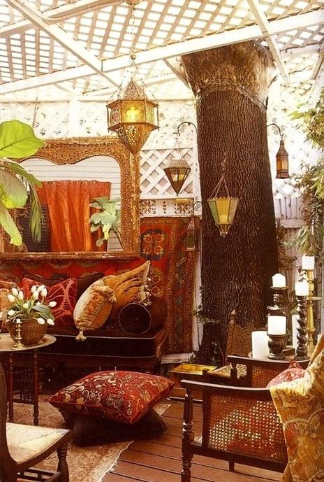 foto de patio estilo bohemio
