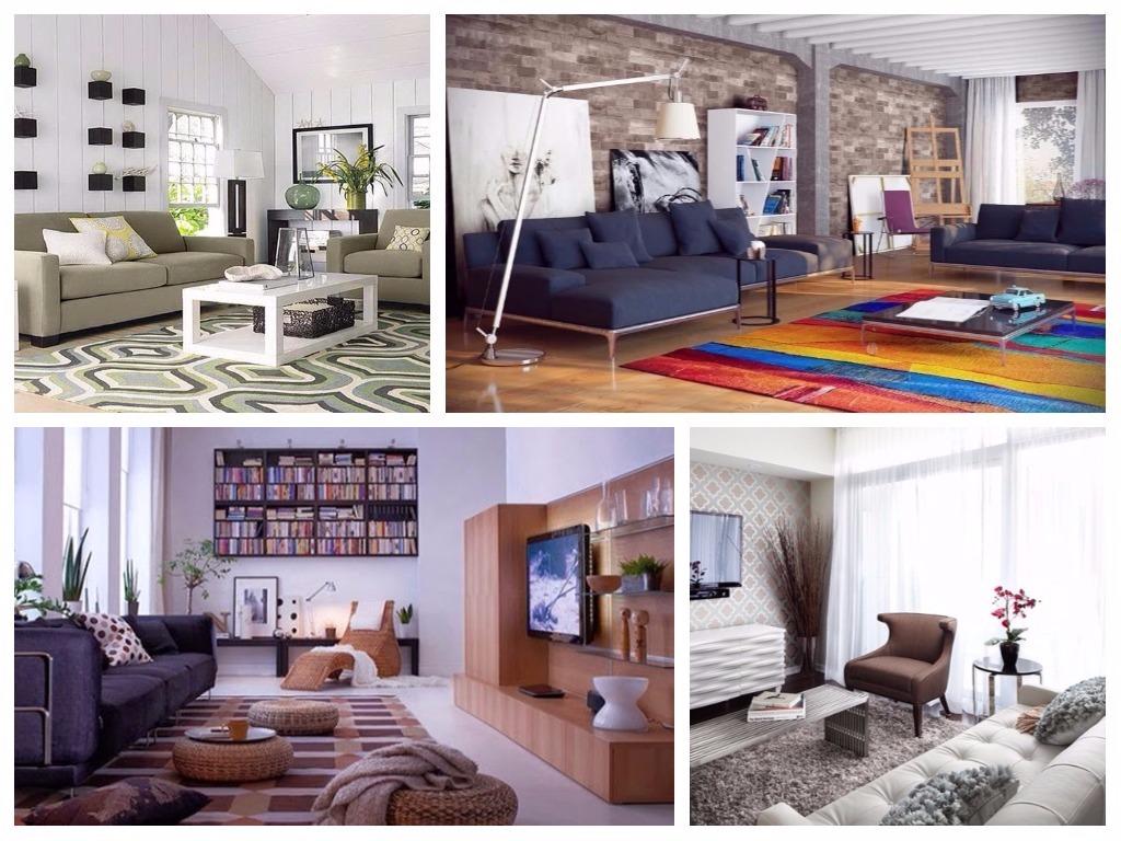 20 salas decoradas con hermosas alfombras - La casa de las alfombras ...