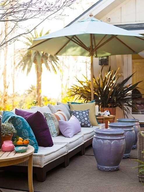 foto de terraza estilo bohemio
