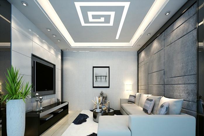foto de sala con techo falso