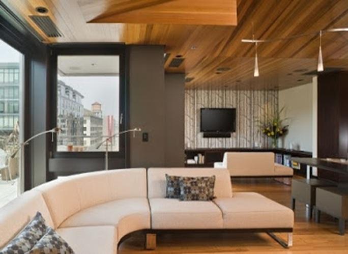 10 magn ficos dise os de salas con techos falsos - Materiales para techos falsos ...