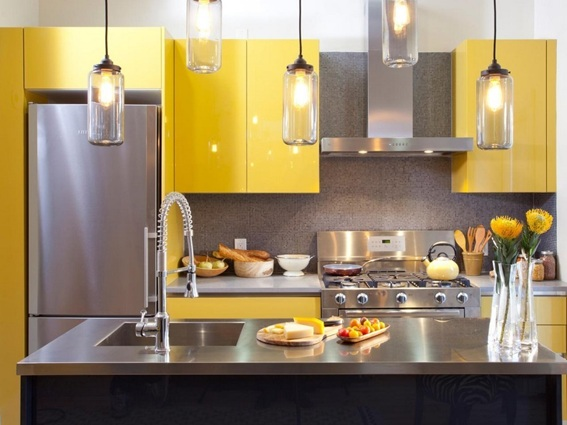15 Cocinas Decoradas en Color Amarillo para Crear Alegría y Entusiasmo