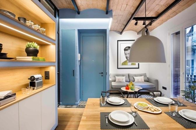Estupendo dise o interior de un apartamento 40 m2 en barcelona - Disenadores de interiores barcelona ...