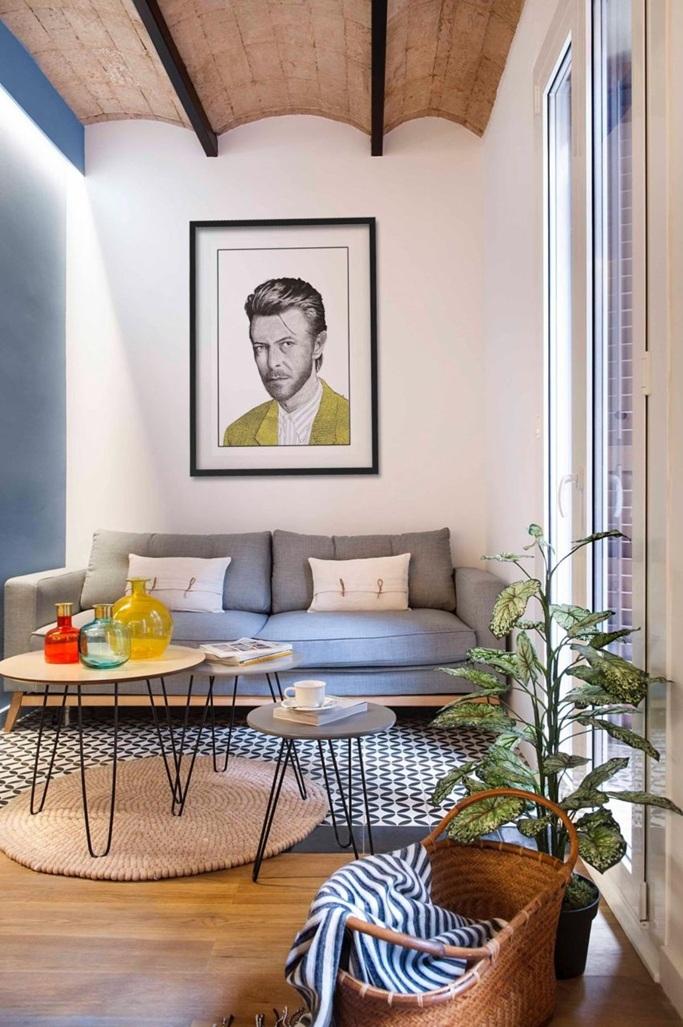Estupendo dise o interior de un apartamento 40 m2 en barcelona for Casa minimalista de 40 metros cuadrados