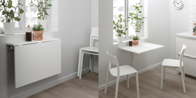 mesa plegable pared cocina