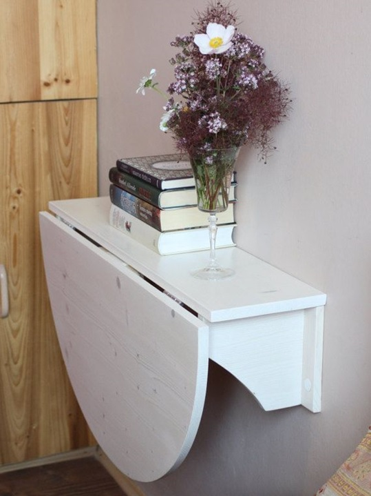 mesa plegable pared pequeña