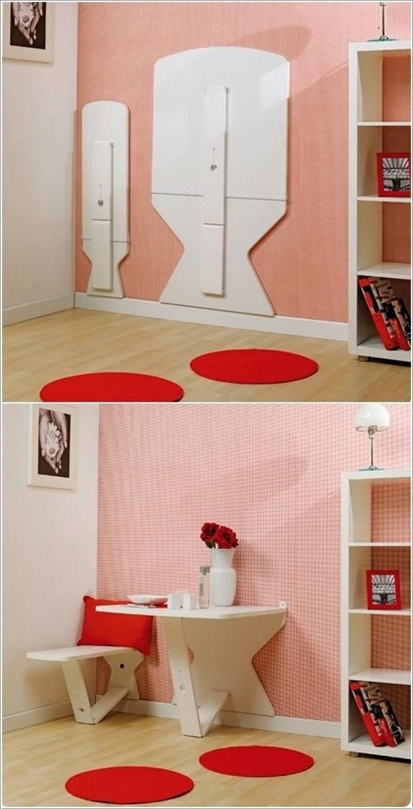 Modelos de mesas plegables para pared for Mesa plegable con asientos